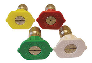 "Colour-coded individual ¼"" QC nozzles"